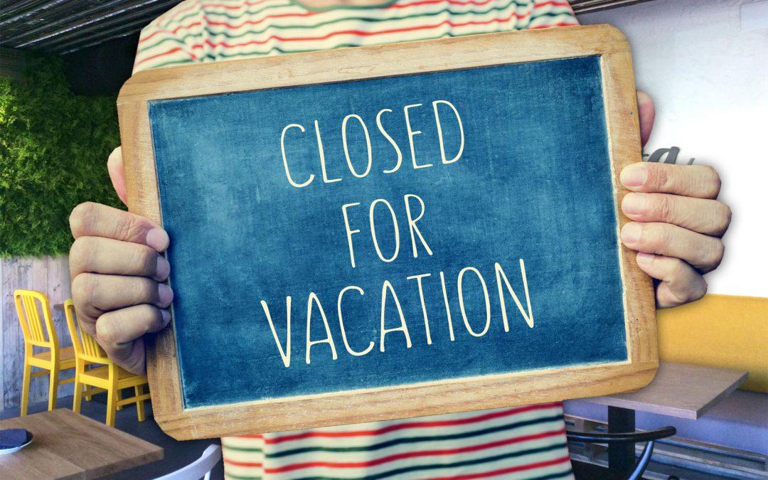 ¡Cerramos por vacaciones!